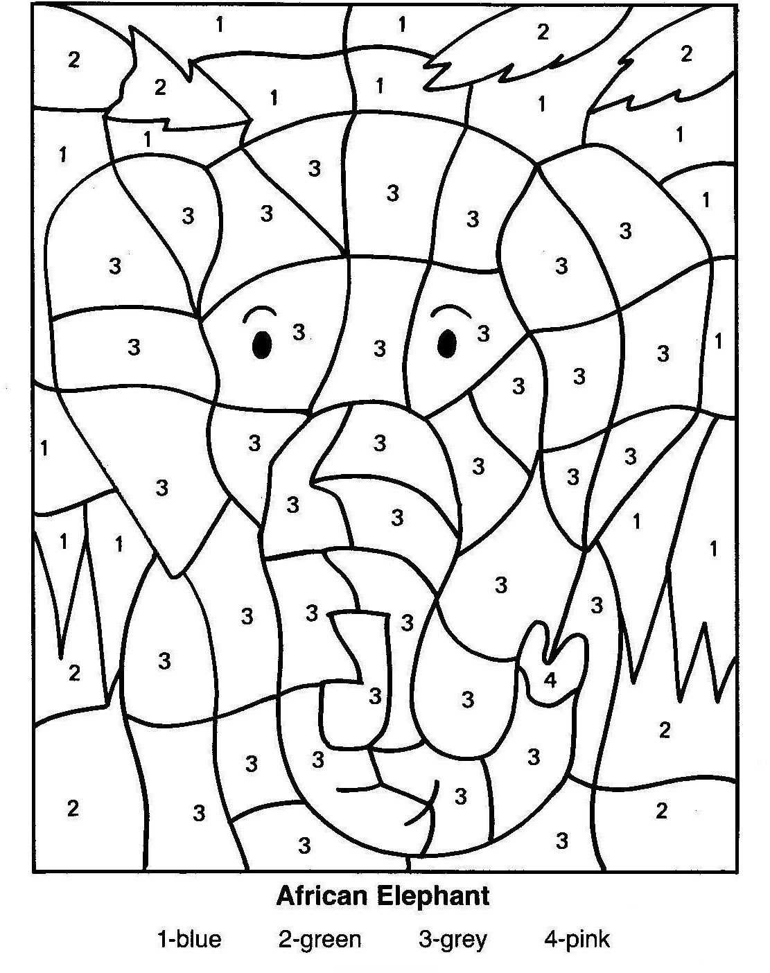 Printable Free Printable Educational Coloring Pages With Kindergarten Archives Math Coloring Worksheets Kindergarten Coloring Pages Elephant Coloring Page