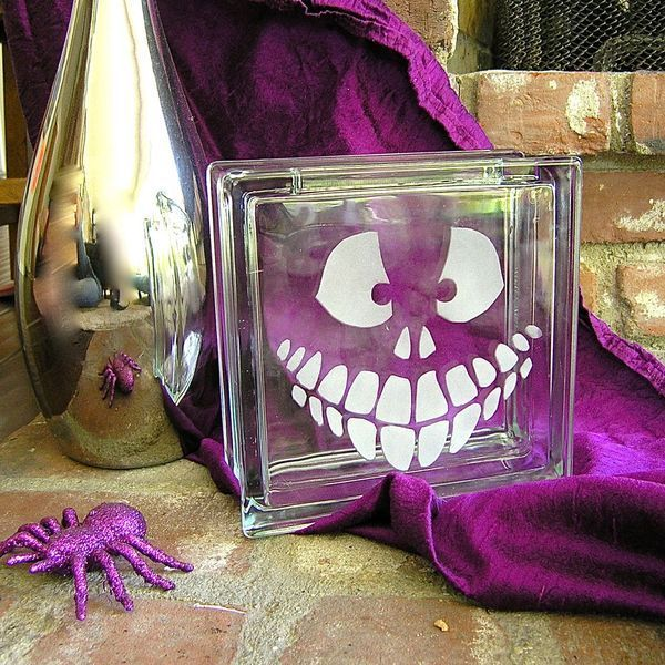 No muss no fuss fresh ways to use pumpkin carving for Glass block alternatives