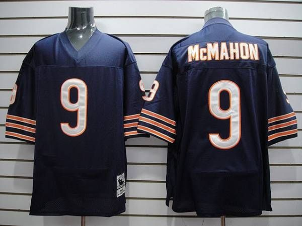online retailer d1187 e497a Mitchell & Ness Bears #9 Jim McMahon Blue Stitched Throwback ...
