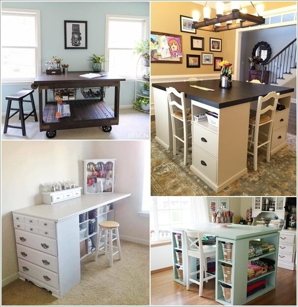 10 Cool Diy Craft Table Ideas For Your Craft Room Diy Storage