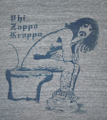 """Warriors Come Out And Play Movie Cast: Vintage 1970's 70's Frank Zappa Toilet """"PHI Zappa Krappa"""