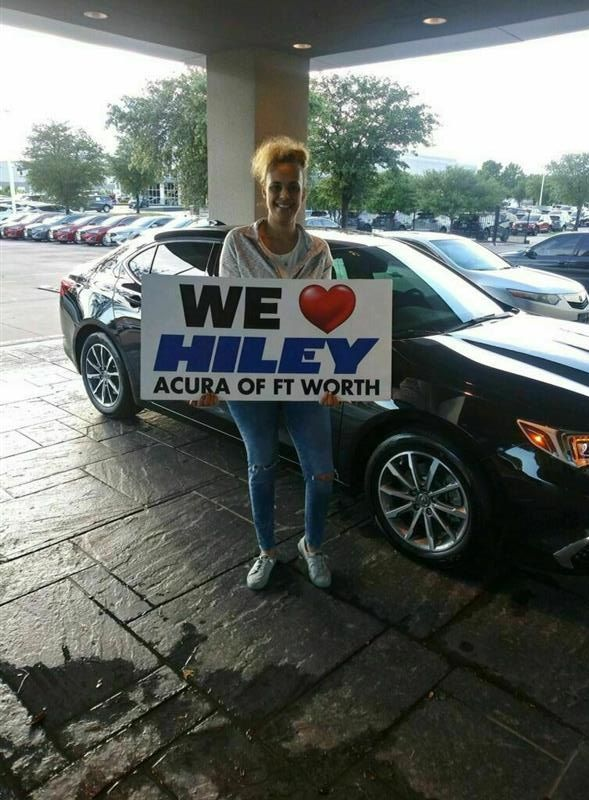 Congratulations Valencia on your #Acura #TLX from Gavin Samples at Hiley Acura! #NewCar