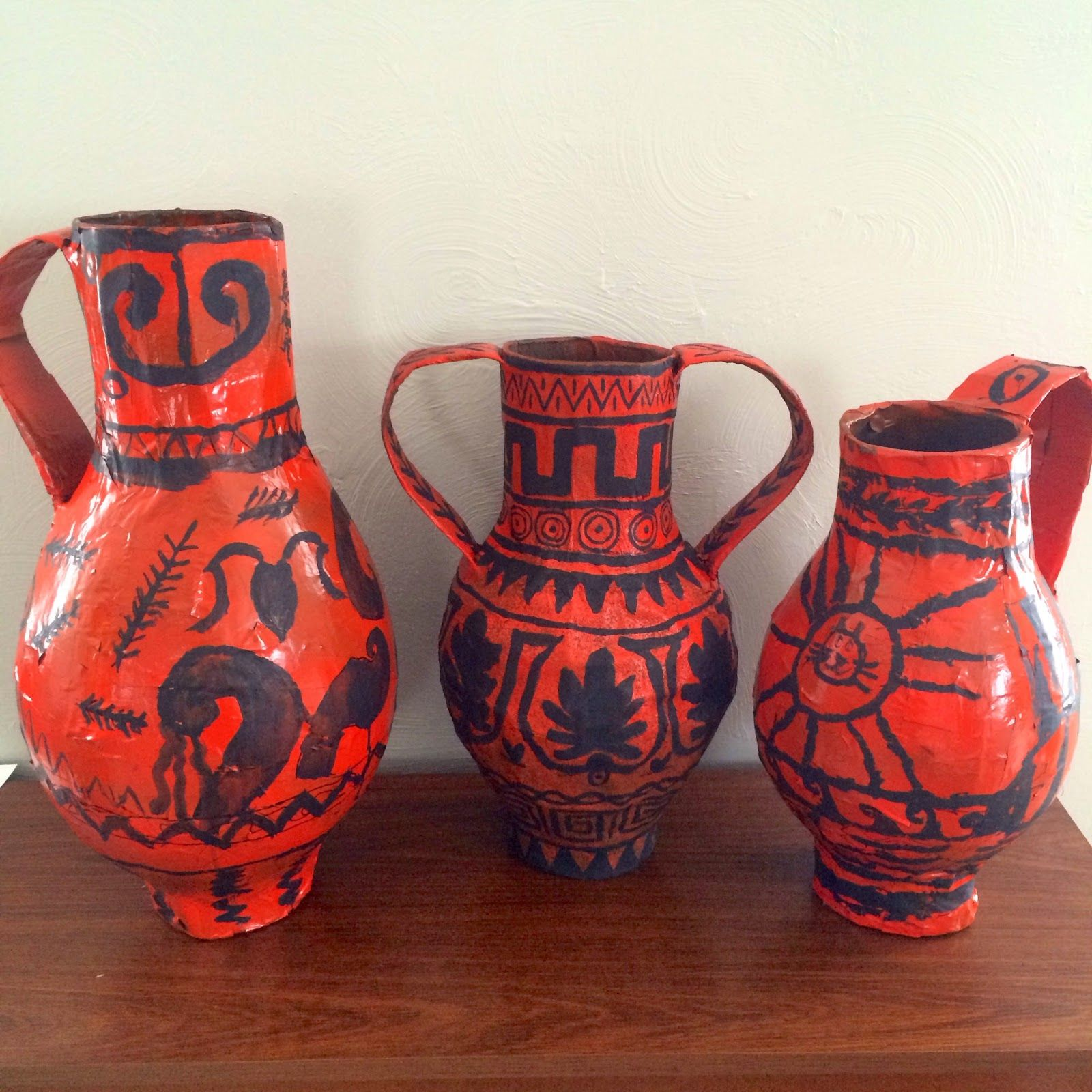 Smith family news ancient greece unit study arts and crafts greek vases from paper mache reviewsmspy