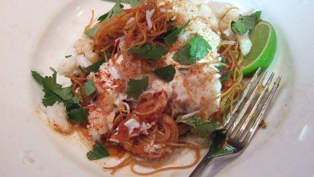 Spicy crab noodles