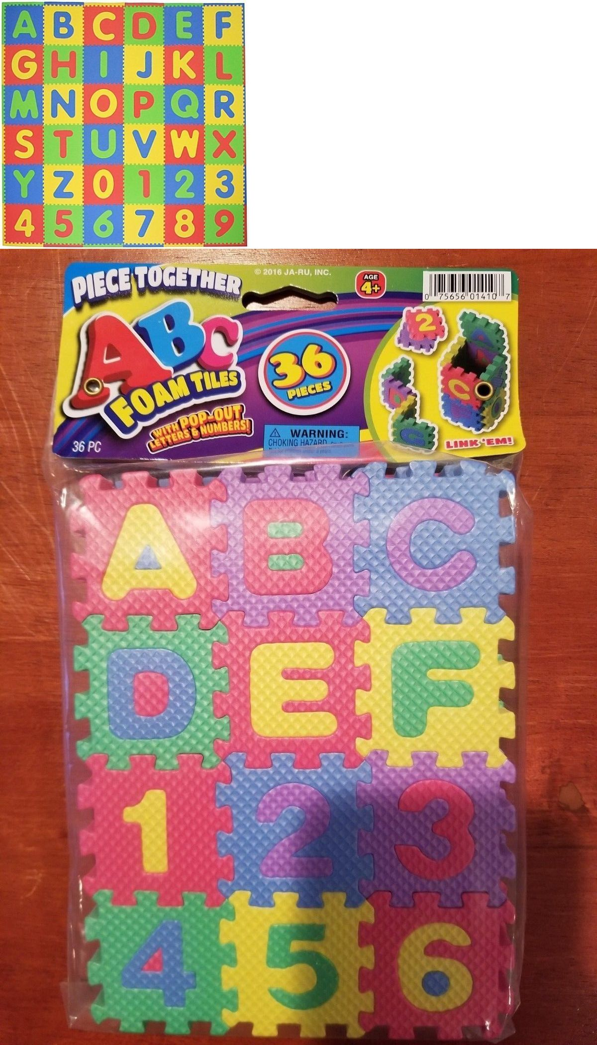Abc 123 Foam Tiles Interlock 36 Pieces Learning Letters And Numbers 75656014107 Ebay Foam Tiles Childrens Play Mat Learning Letters