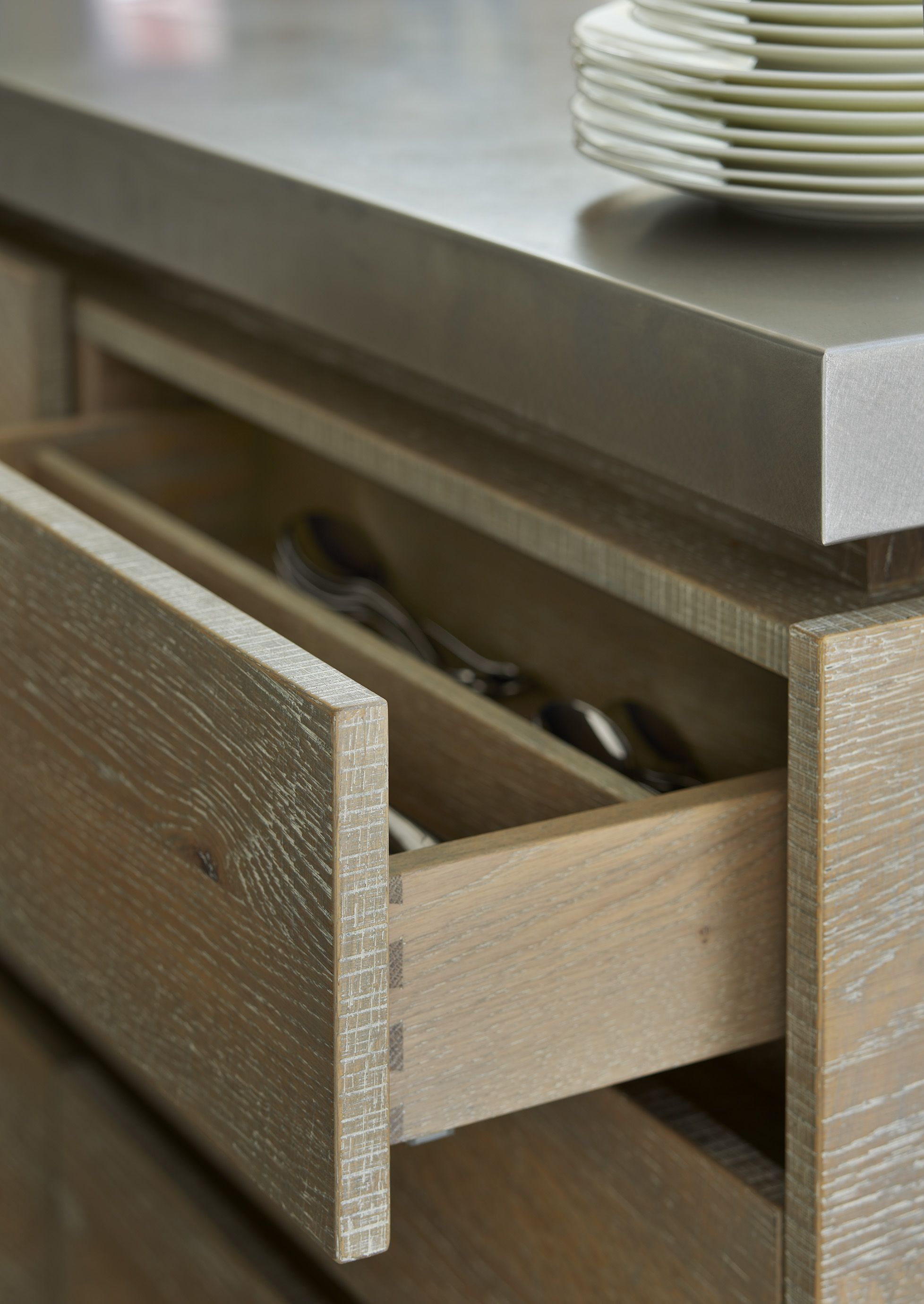 Custom Made Drawer Dividers By Roundhouse Design Helping To Keep Your Kitchenware Organised Round House Drawer Dividers Home Organization Hacks