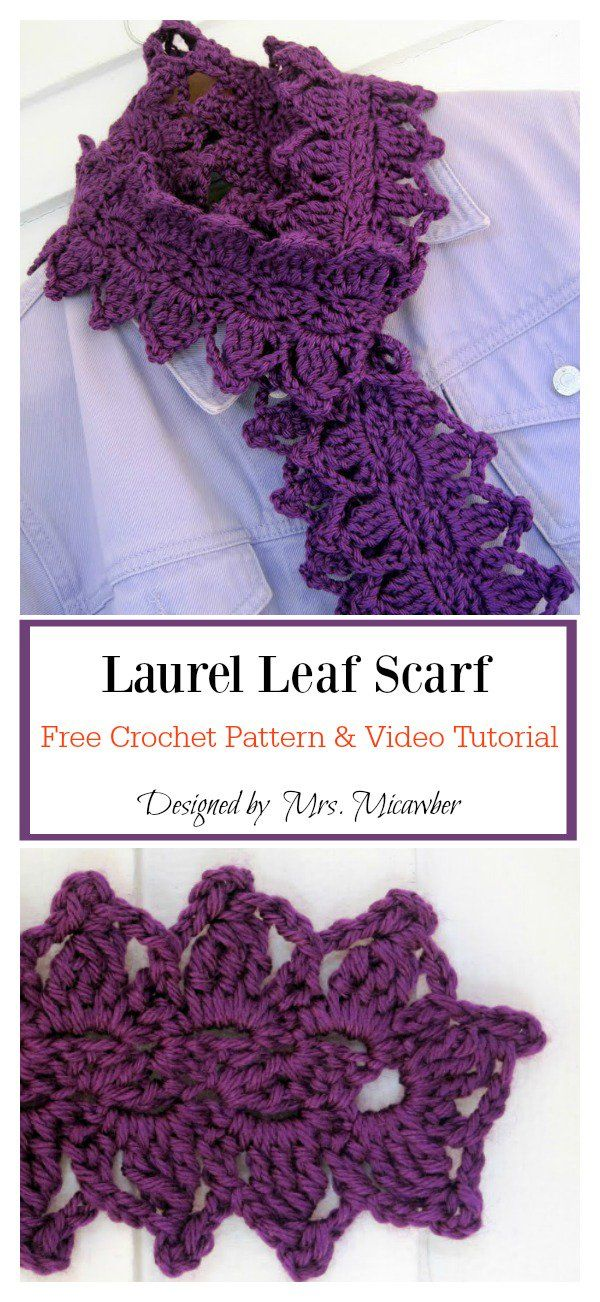 Leaf Scarf Free Crochet Pattern   Stricken   Pinterest   Schals ...