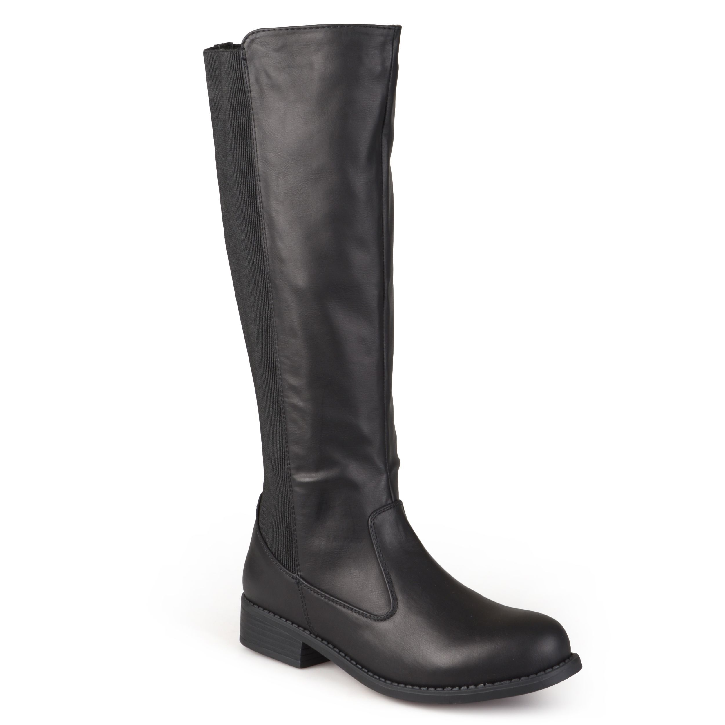 Outlet Journee Collection Women's Studded Knee-High Riding Boots Taupe