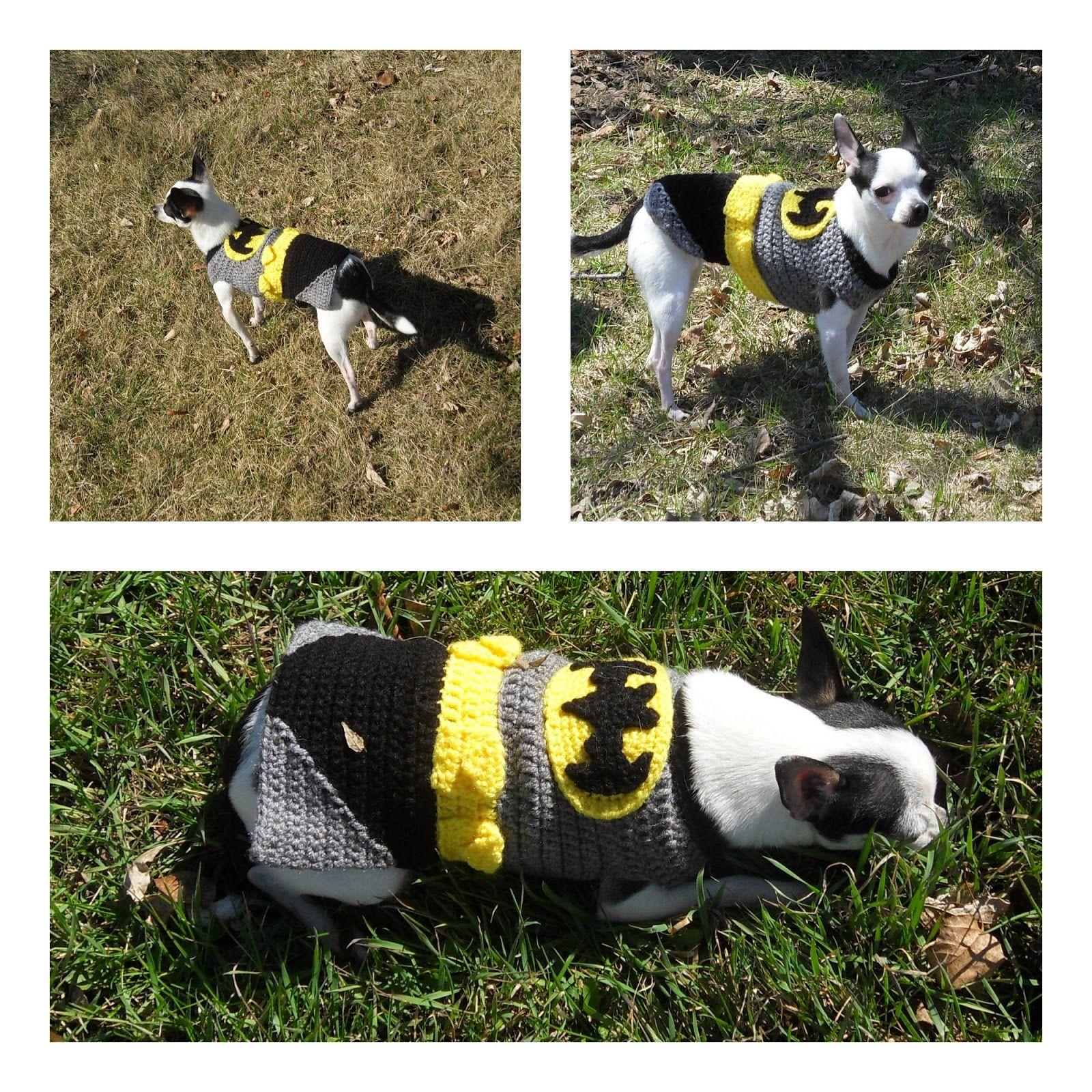 Crochet Batman Look A Like Dog Costume Batman Dog Costume