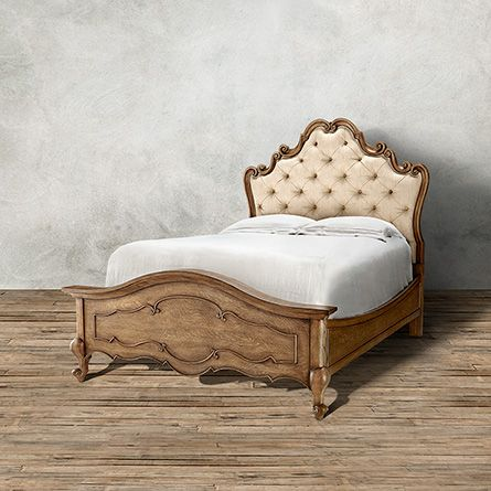 Ariane Upholstered Queen Bed In Savino Straw And French Oak | Arhaus  Furniture