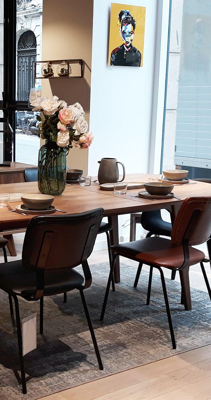 Table A Manger Design Extensible Noyer L180 230 Cm Fifties Table A Manger Design Meuble Design Mobilier De Salon