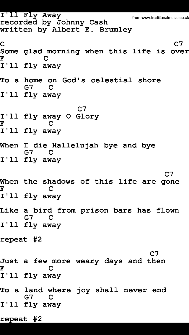 I\'ll Fly Away | Ukelele Songs | Pinterest | Songs