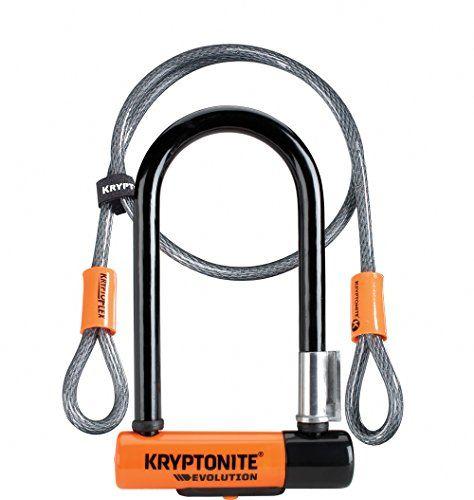 Kryptonite New U Evolution Mini 7 W Double Loop Cable Bicycle