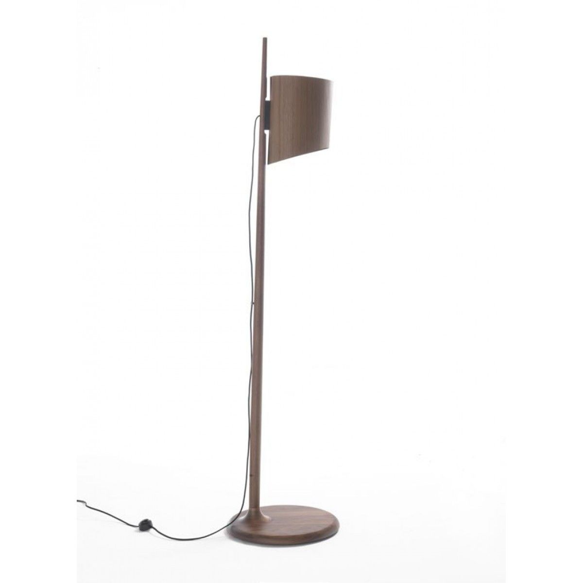 Superior Porada Stick Floor Lamp   Unusual And Beautiful Wooden Floor Lamp Made From  Canaletta Walnut #