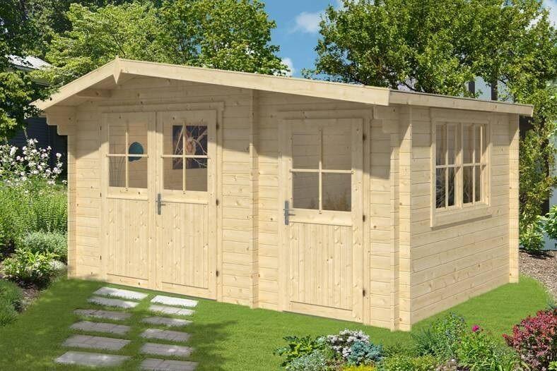eBay Sponsored 34 mm Gartenhaus 450x300 mit Anbau