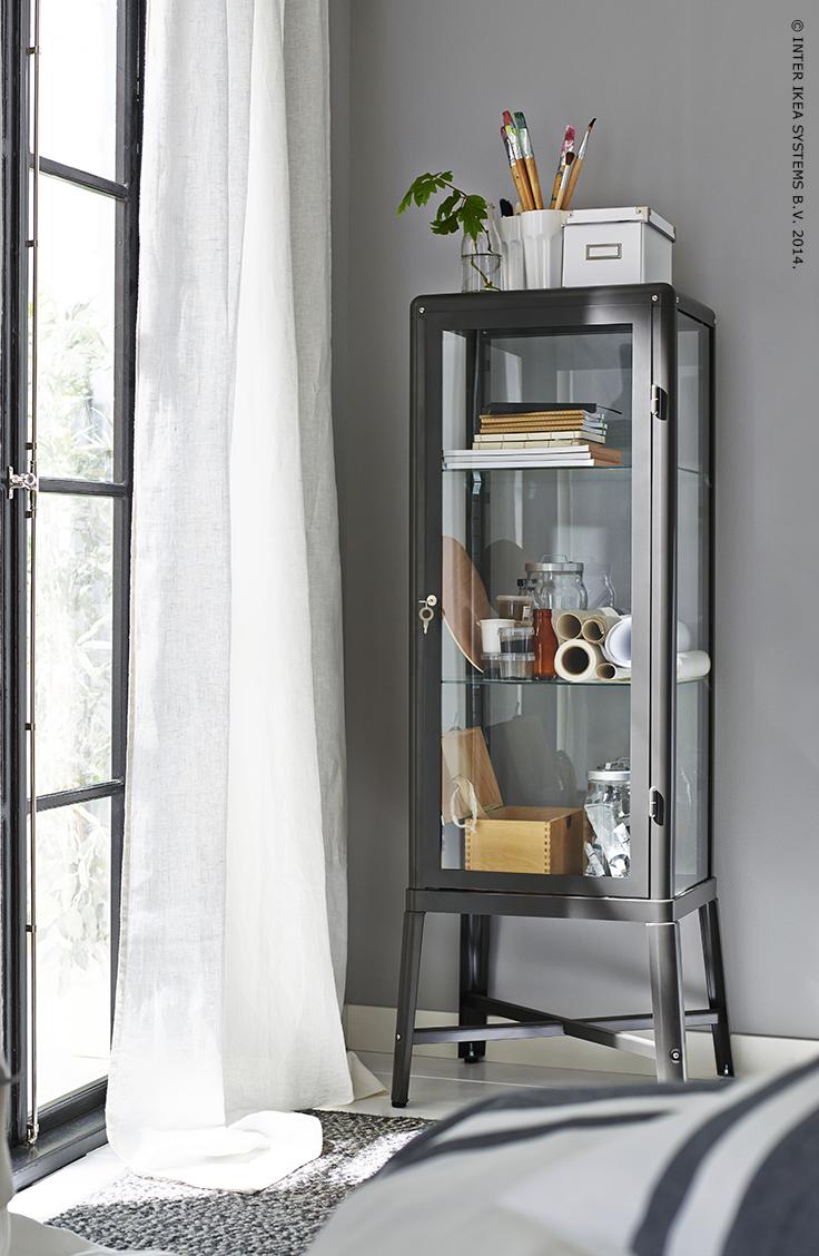 FABRIKÖR Vitrinekast Beige 57x150 cm | Beige, Smeg fridge and ...