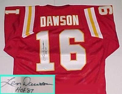 best sneakers d5534 63340 Len Dawson Hand Signed Chiefs Throwback Jersey with ...