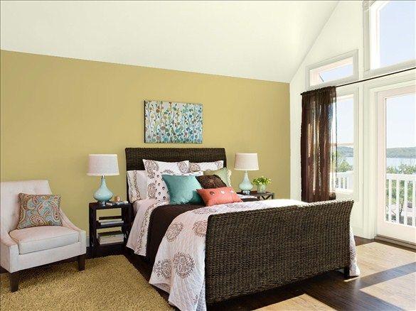 Fresh Organic Bedroom - Wall, Trim, & Ceiling Color: Olivetint ...