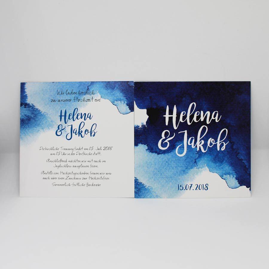 Hochzeitseinladung Aquarell En 2020 Invitaciones De Boda