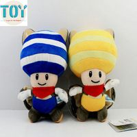 New 1 PCS Super Mario Bros Bat Toad Kinopio Stuffed Soft Plush Doll Kids Toys…