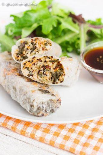 Vegetable quinoa spring rolls recipe yummly spring time vegetable quinoa spring rolls recipe yummly forumfinder Choice Image
