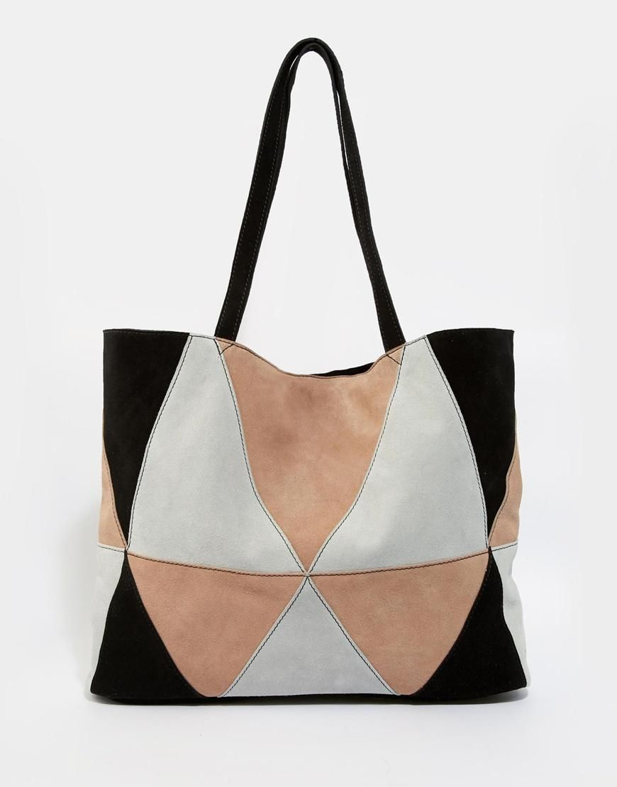 Suede ASOS ASOS Bag Patchwork at Shopper ASOS 8ZAUZ6
