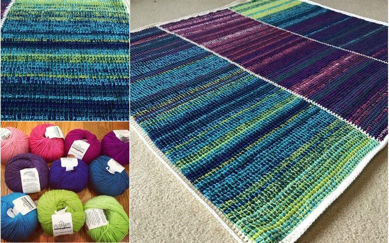 Crochet Tunisian Temperature Blanket | crochet | Pinterest
