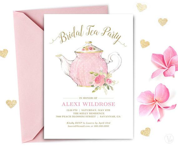 Bridal Tea Party Invitation Template Printable Bridal Tea