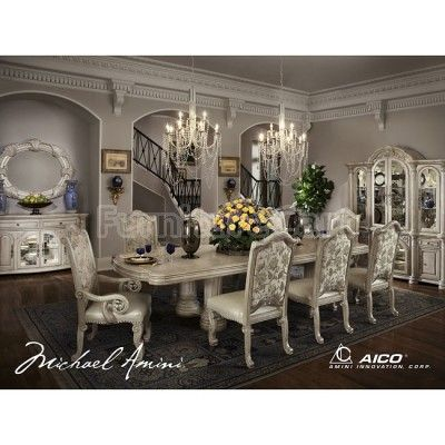 Monte Carlo Ii Dining Room Set Silver Pearl I Loooove This Whole Awesome Traditional Dining Room Set Decorating Design