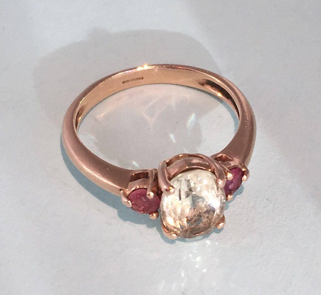 Black Friday Sale 9ct Rose Gold Prasiolite And Pink Gem Set Ring Vintage 9k Gold Three Stone Ring U S Size 5 Vintage Fine Jewelry Vintage Rings Dress Rings