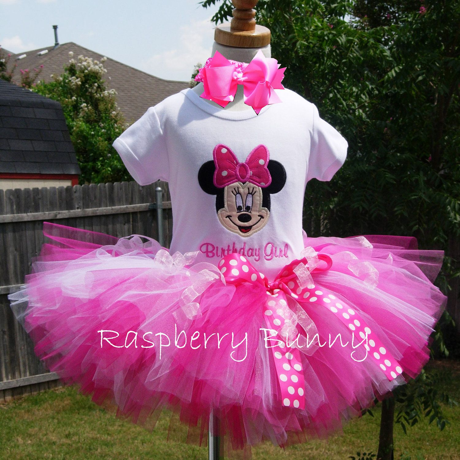 minnie mouse tutu | Minnie Mouse Birthday Tutu Outfit with Sugar N ...