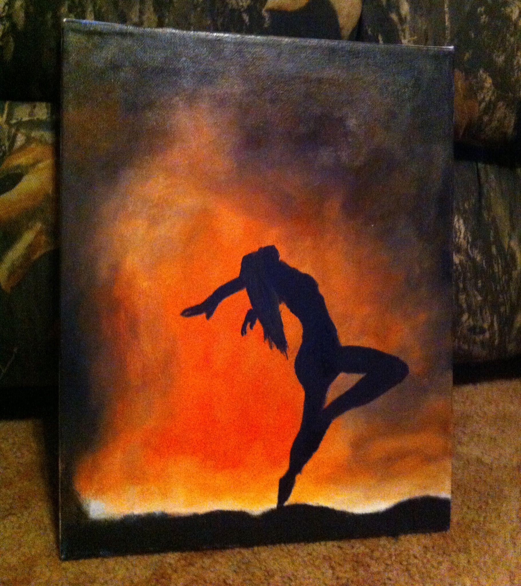 Dancing Fire Painting Art Pinterest Fire Painting