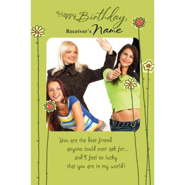 Personalized Birthday Card For Best Friend – Hallmark Personalised Birthday Cards