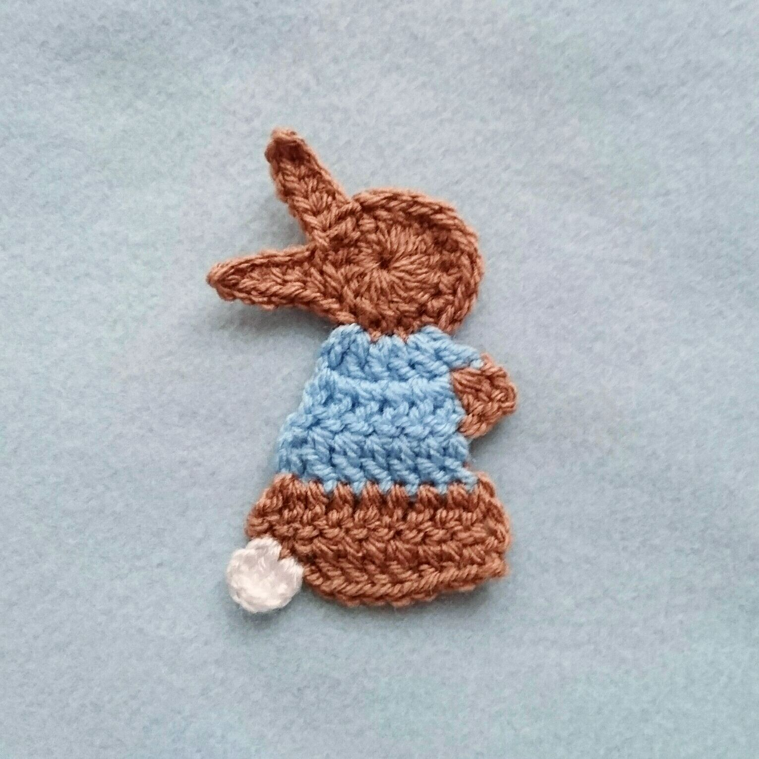 Crochet Pattern for the Peter Rabbit Applique - Beatrix Potter ...