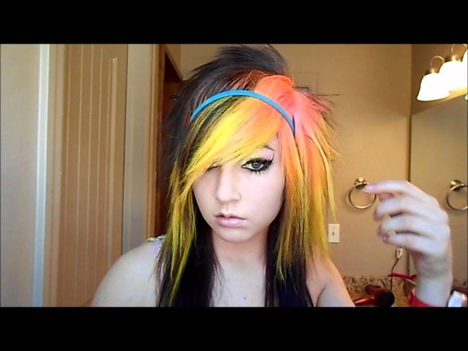How To Do Scene BraidScene Headband Tutorials Pinterest - Emo girl hairstyle video