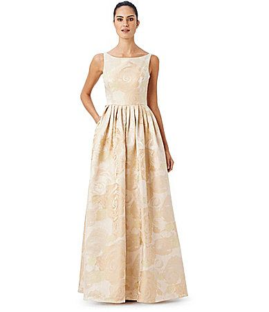Adrianna Papell Sleeveless Floral Gown   Adrianna papell and Dillards
