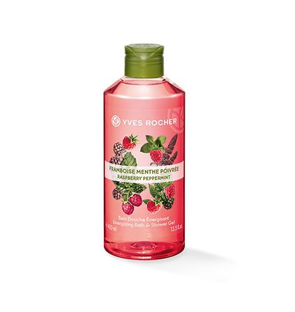 400 ml raspberry peppermint shower gel from Yves Rocher (Paris) - two of these