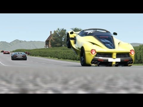 Ferrari LaFerrari Aperta vs Supercars at Highlands
