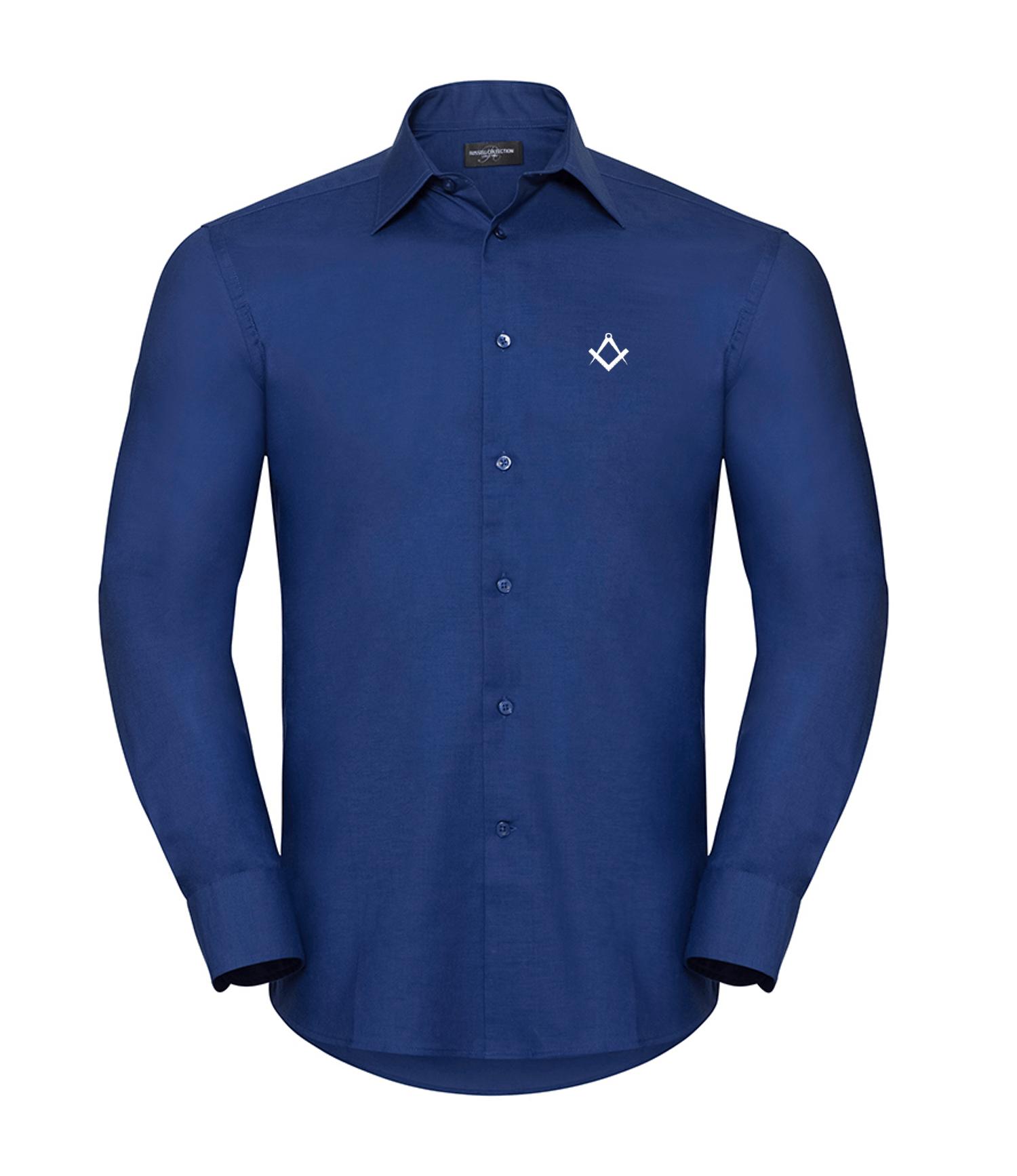 2bae5ccb Masonic smart casual shirt bright royal blue front | Gifts and ...