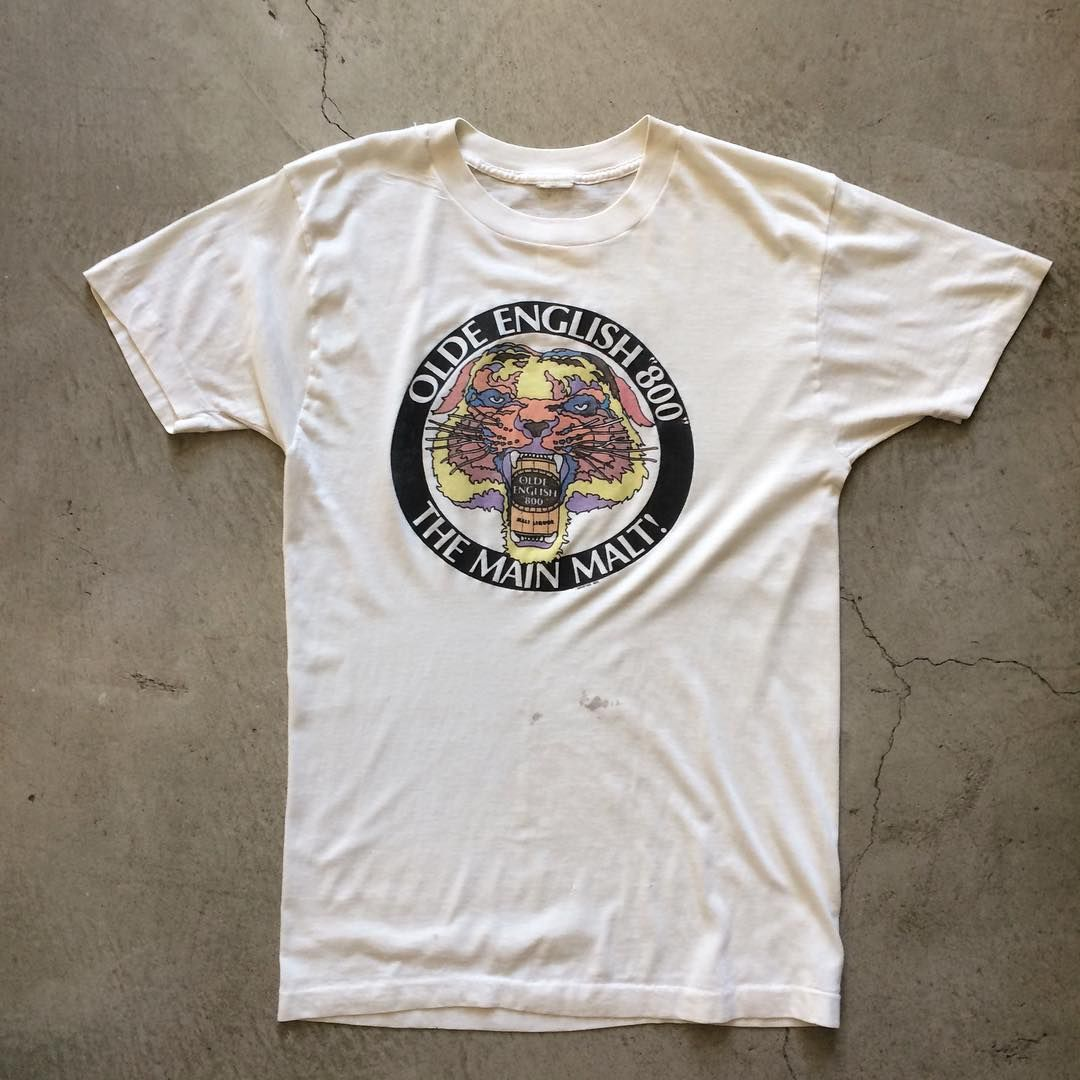 80s olde english 800 tshirt size m measures 20 pit