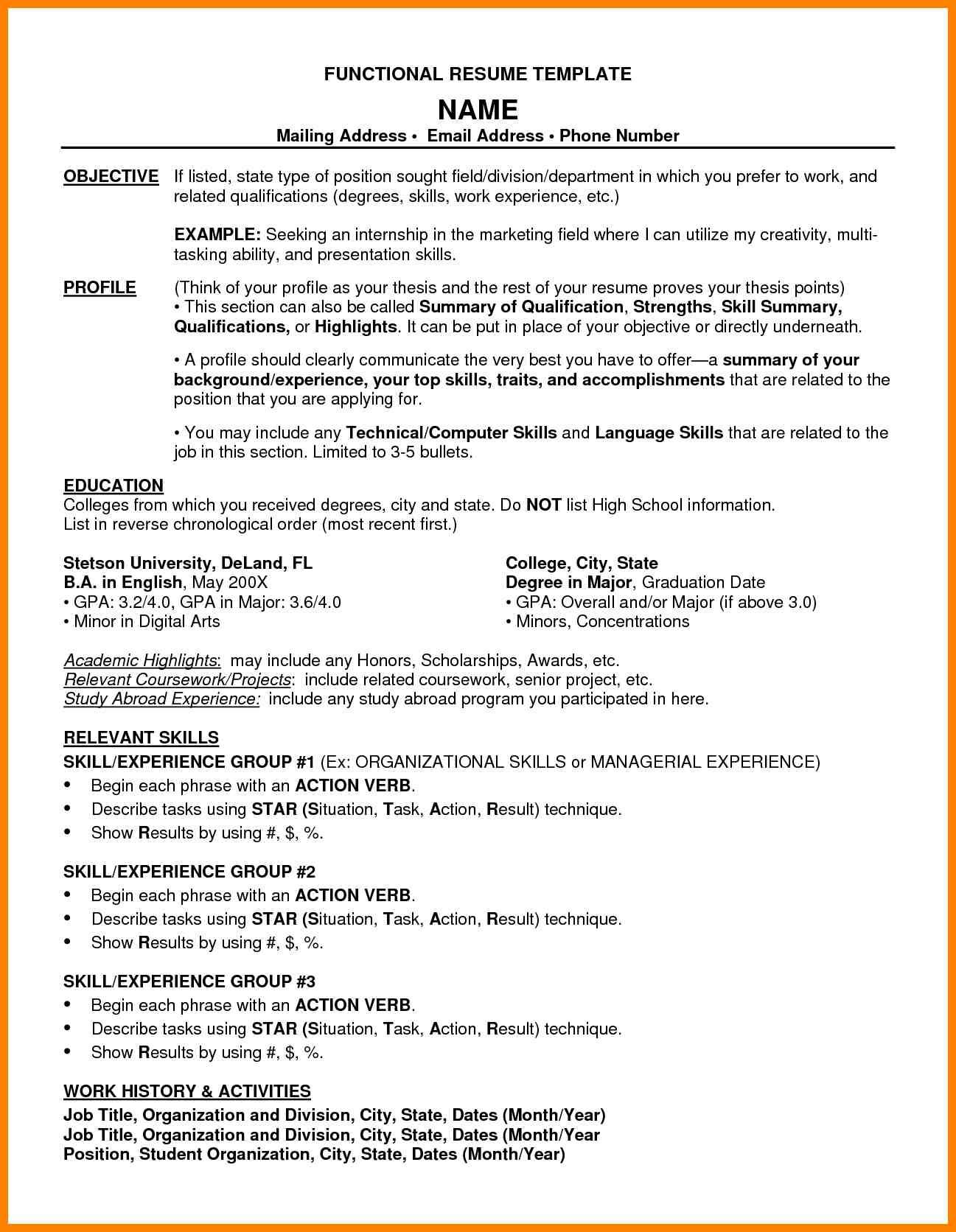 Combination Resume Template And Example Intended For Combination Resume Template Word Cumed Or Resume Template Word Resume Template Executive Resume Template