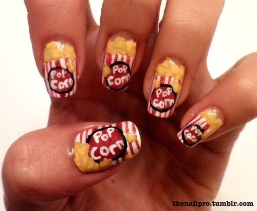 Popcorn Nails Nail Art Pinterest