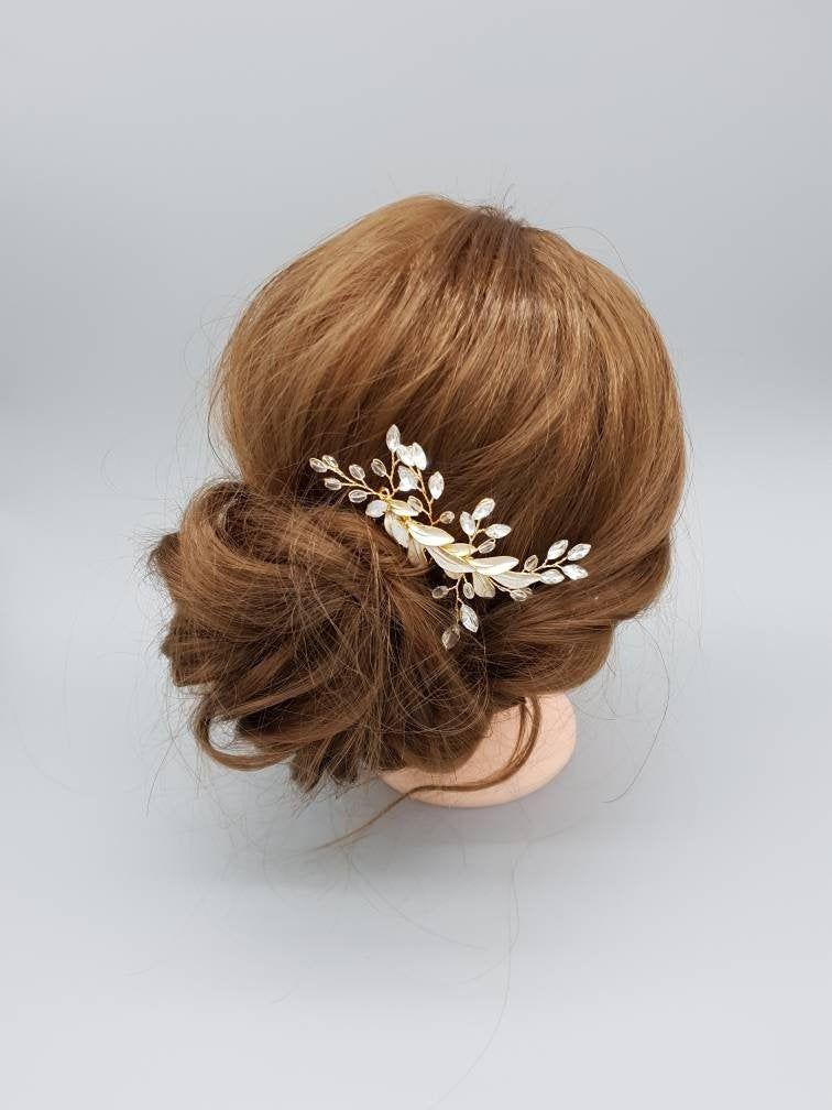 Erin Gold Bridal Hair Comb Vintage Style Hair Jewelry Wedding Etsy Gold Bridal Hair Comb Bridal Hair Comb Vintage Hair Jewelry Wedding