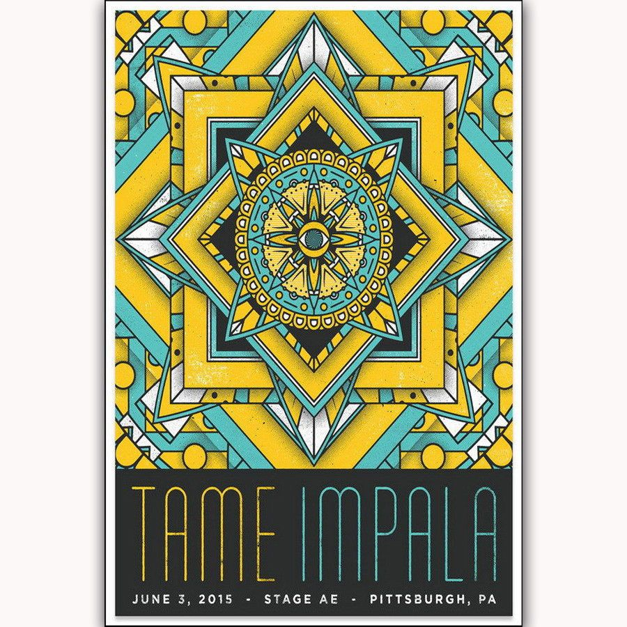 H171 New Tame Impala Psychedelic Rock Band Cover 14x21 24x36\