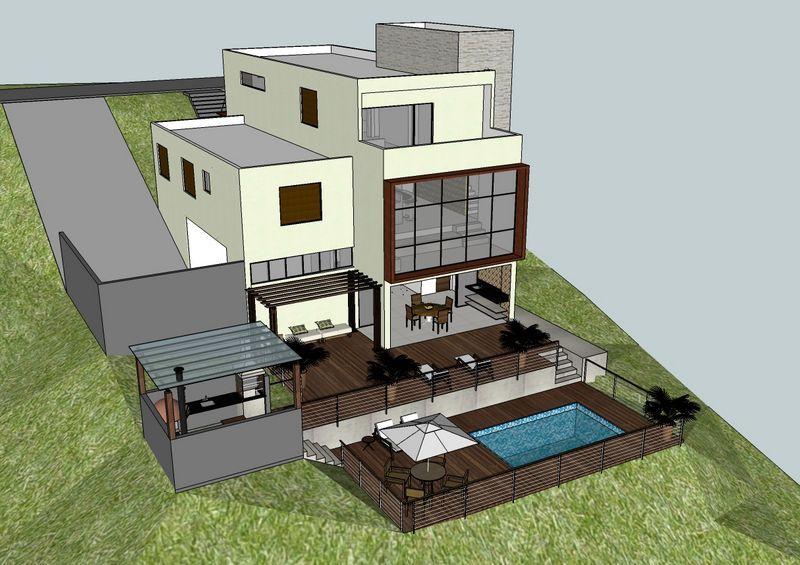 800 565 casas en desniveles pinterest for Casa minimalista a desnivel