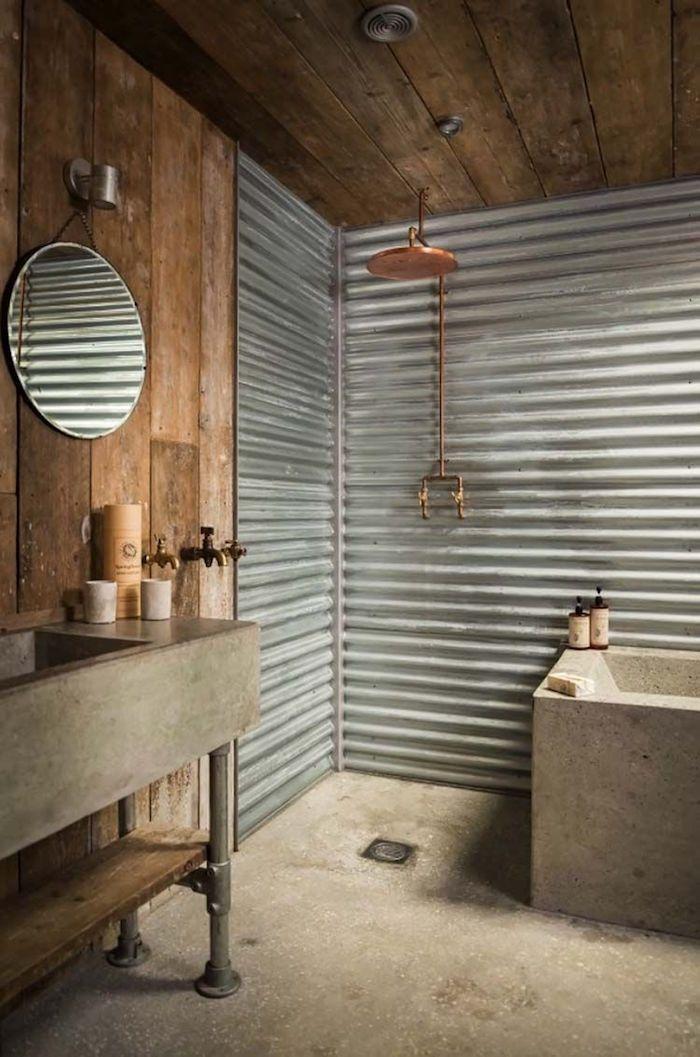 Salle De Bain Sans Carrelage Des Alternatives Possibles Salle De Bain Design Dessins De Bains Rustiques Salles De Bains Rustiques