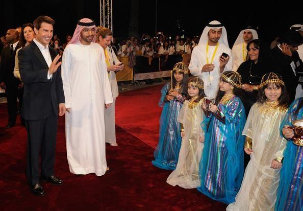 His Highness Sheikh Mohammed Bin Rashid Al Maktoum Vice President And Prime Minister Of The Uae And Ruler Of Tom Cruise Dubai City International Film Festival