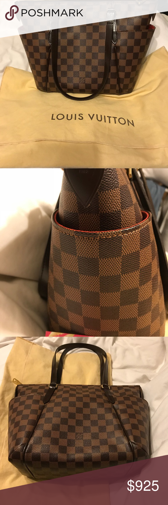 300d27eeb716 Louis Vuitton Totally PM Authentic LOUIS VUITTON Damier Ebene Totally PM.  This stylish tote is