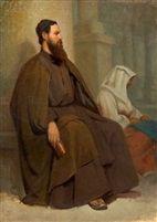 Monk and Jean Hippolyte Flandrin by Neapolitan