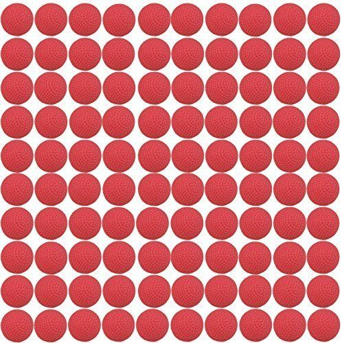 100 Count Nerf Rival Refill Compatible Bullet Balls - 100 Rounds (Red)  Cornucopia Brands